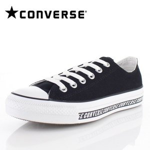 コンバース CONVERSE ALL STAR LOGOLINE OX メンズ レディース オールスター ロゴライン 1SC077 BLACK 63221-BK/01 スニーカー 靴|washington