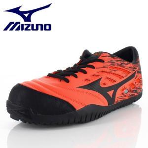安全靴 ミズノ MIZUNO オールマイティ TD11L 紐タイプ F1GA190054 メンズ 靴 オレンジ ワーキング スニーカー 3E|washington