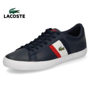 ラコステ メンズ スニーカー LACOSTE LEROND CMA 119 3 CMA0045-7A2 NVY/WHT/RED ネイビー トリコロール レザースニーカー 靴|washington