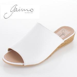 gaimo ガイモ サンダル エスパドリーユ  ジュート 靴 本革 レディース 9402 NISSAN ホワイト 白 セール|washington