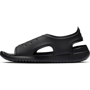 ナイキ サンレイアジャスト 5 NIKE SUNRAY ADJUST 5(GS/PS) AJ9076-001 キッズ ジュニア サンダル ブラック 子供靴|washington