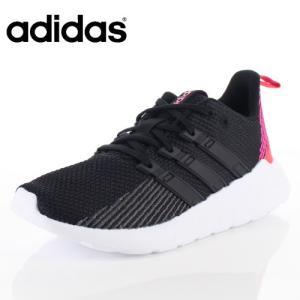 adidas アディダス レディース 靴 F36257 スニーカー QUESTAR FLOW W ランニングスタイル ニットアッパー 2E 柔らか ブラック|washington