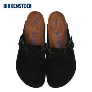 ビルケンシュトック BIRKENSTOCK ボストン レディース メンズ BOSTON BS 0660471 幅広 サンダル スエード ブラック 国内正規品 washington