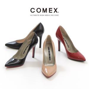 COMEX コメックス パンプス 靴 5500 ハイヒール 10cmヒール 本革 レッドソール ポインテッドトゥ ピンヒール|washington