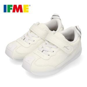 スニーカー イフミー キッズ IFME CALIN カラン シューズ 22-9716 WHITE 白 子供靴 ベルト 超軽量 花柄|washington