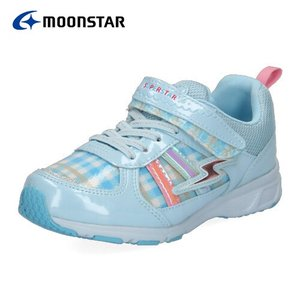 ムーンスター スーパースター バネのチカラ キッズ 防水 スニーカー MoonStar SS J948 SAX キッズ 2E サックス 子供靴|washington