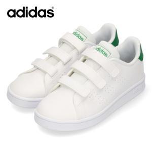 アディダス スニーカー キッズ adidas ADVANCOURT C EF0223 ホワイト グリーン 子供靴 運動 体育|washington