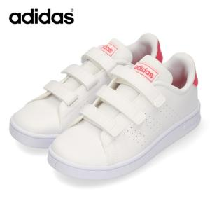 アディダス スニーカー キッズ adidas ADVANCOURT C EF0221 ホワイト ピンク 子供靴 運動 体育|washington