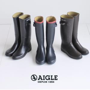 AIGLE エーグル シャンタベル レディース レインブーツ 長靴 ロング丈 8521 CHANTEBELLE JP ラバーブーツ 正規品|washington