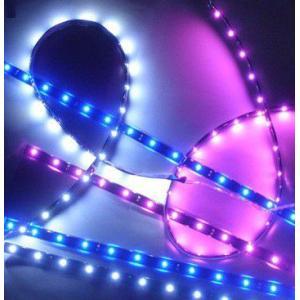 自動車・バイク 装飾用 高輝度SMD LEDテープライト (取付け簡単・日常防水仕様) 白・赤・青・緑・多色 5種類「120-0004」|washodo