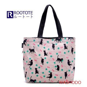 帆布生地 エコバッグ トートバッグ(ルーショッパー Roo Shopper)全9柄「200-0043」|washodo