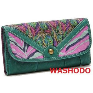 女性用 三つ折り柔らか長財布 米国人気ファッションブランド mossimo 4柄選択 「217-0001」|washodo
