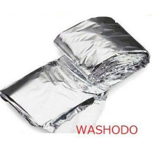 スペースブランケット エマージェンシーブランケット (シルバー・ゴールド 2種類)2個セット「400-0014」|washodo