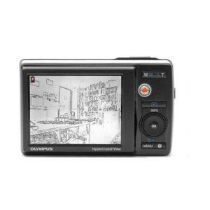 OLYMPUS 9010 デジタルカメラ専用 液晶画面保護シール 503-0021H|washodo