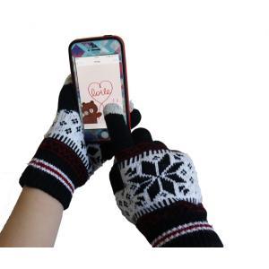 冬に最適!暖かな防寒用スマホ手袋 タッチグローブ  タッチパネル操作OK!「504-0013」|washodo