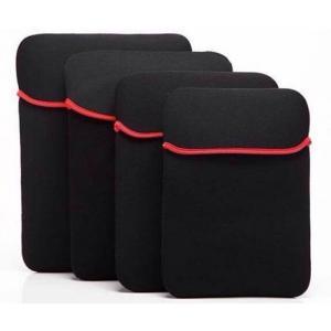 各タブレット、ノート パソコン PC用 8インチ ワイド対応 高伸縮性セイフティーインナーケース ネオプレン製 防水仕様加工 ブラック「504-0016」|washodo