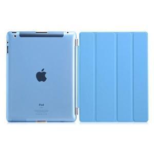 ipad2/新しいipad(ipad3)/ipad4(第4世代)用 Smart Cover スマートカバー&半透明ケース2点セット「504-0019」