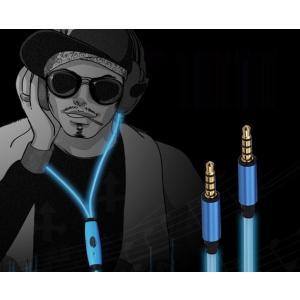 スマートフォン、タプレットなど対応 発光イヤホン USB充電可能 光るイヤホン 3色「504-0038」|washodo