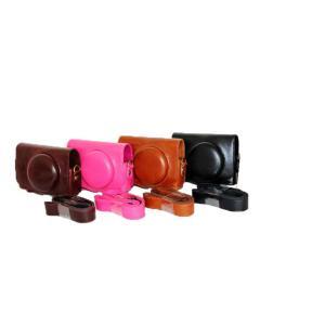 Canon SX720HS キャノン デジタルカメラ用 合成革ケース 4色「515-0037」