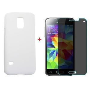 サムスン Samsung Galaxy S5 mini  磨き砂面 携帯用ケース スマートフォン保護カバー&覗き見防止液晶保護フィルム2点セット 2色「521-0039+521-0031-02」
