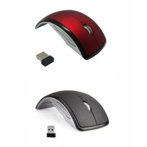 「washodo」人気折りたたみ式マウス 光学無線式(2.4GHz) 省エネ 節電 タッチマウス ワイヤレスレーザー USB受信機付き 570-0007|washodo