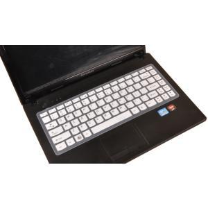 Lenovo レノボ G475シリーズ 14インチノートパソコン用 英字配列 キーボード保護カバー 防水 キズ防止 シリコンタイプ 5色|washodo