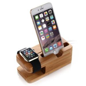 [WASHODO]竹製 充電スタンド 1台2役 iphone iwatch 38mm/42mm対応 2in1携帯充電用スタンド 環境に優しい 机スッキリになる収納グッズ 570-0019|washodo