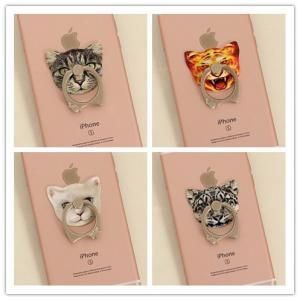 「iRing」iphone/ipad/kindle/sony/samsung スマホ、タブレット用 可愛い 猫 リング スタンド ファッション 性落下防止に|washodo