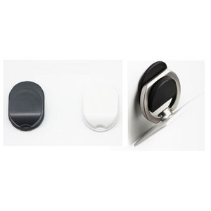 「iRing」スマホ、タブレット用 リング スタンド用 車載フック 落下防止に iphone/samsung/SONYなど 2色選択「580-0003」|washodo