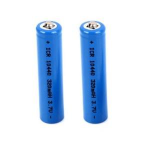 単四 リチウム充電式電池3.7V 320mAh 10400 2本セット「800-0037-02」|washodo