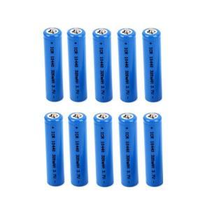 単四 リチウム充電式電池3.7V 320mAh 10400 10本セット 「800-0037-03」|washodo