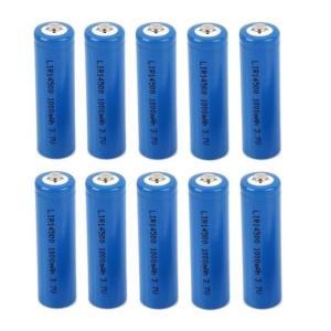 単三 リチウム充電式電池3.7V  1000mAh 10本セット 14500「800-0038」|washodo