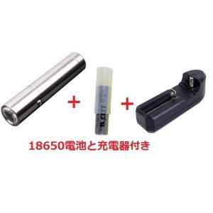 CREE R2 高輝度 LEDミニライト 懐中電灯 240ルーメン 電池式 携帯便利「800-0047」(ライト本体1本+18650充電電池1本+充電器1本)|washodo