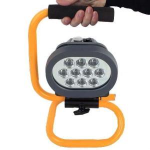 バッテリー充電式強光LED作業灯 ポータブル投光器 小型 携帯式 便利 アウトドア LED充電式ライト「800-0054」|washodo