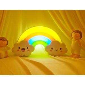 子供部屋用 可愛い虹町ライト 光センサー付き 自動点灯 消灯「800-0071-01」|washodo