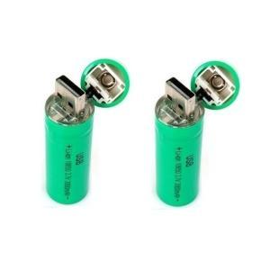 USB18650 充電電池 USBバッテリー  リチウム充電式電池 充電器不要 2本 「800-0096-02」|washodo