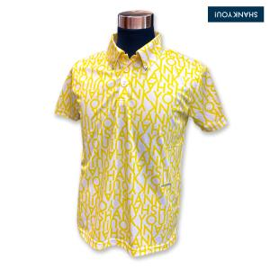 "SHANK YOU! ゴルフ ポロシャツ""Yellow Pattern"" 0300020 wasistockts"