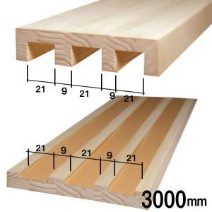 木製敷居と鴨居のセット(3本溝)長さ3m 溝の幅21mm 溝と溝の間の幅9mm■ふすま(襖)を洋風建具にリフォーム wasitu-reform