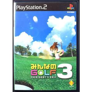 PS2 みんなのゴルフ3 ケース・説明書付 プレステ2 ソフト 中古