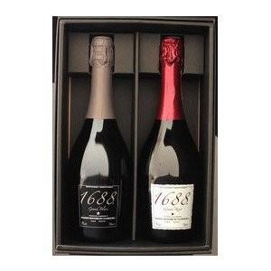箱あり 1688 紅白セット (グラン ロゼ&グラン ブラン)  750ml  泡 ノンアルコール スパークリングワイン スパークリング|wassys