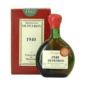 (ポイント6倍 9月30日13時まで) デュペイロン ヴィンテージ アルマニャック 1945 ミニチュアボトル 50ml wassys