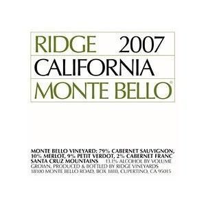 (ポイント6倍 9月30日13時まで) 【正規品】 リッジ モンテ ベロ 2007 赤ワイン|wassys