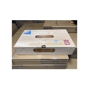 ワイン木箱 インシグニア (34.5×58×13)【木箱以外の商品との同梱不可】|wassys
