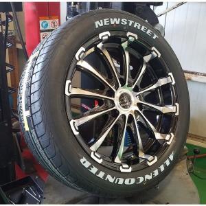 車検対応品 ハイエース レジアスエース 200系 タイヤ ホイール セット 17インチ オーレンカウンター 215/60R17 ホワイトレター|wat