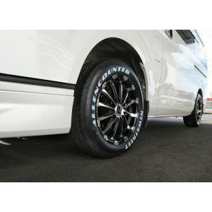 車検対応 バン規格適合 ハイエース 200系 タイヤホイールセット BD12 17インチ オーレンカウンター ホワイトレター 215/60R17 109/107|wat