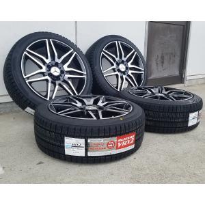 国産スタッドレス ベンツ Aクラス Bクラス W246 Cクラス W204 ブリヂストン VR-X2 225/40R18 18インチ 新品タイヤホイールセット 1台分|wat
