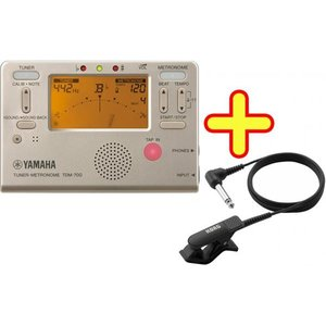 YAMAHA TDM-700 チューナー + メトロノーム TDM-700G / TDM-700P マイク セット クロマチックチューナー 管楽器 ピッチ テンポ  確認 メトロノームチューナー|watanabegakki
