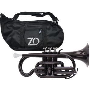 ZO(ゼットオー) コルネット CN-05 ブラック 調整品 新品 アウトレット プラスチック 管楽器 本体 cornet Black 楽器 北海道 沖縄 離島不可の画像