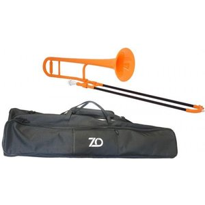 ZO(ゼットオー) TTB-11 トロンボーン オレンジ 新品 アウトレット プラスチック 細管 テナートロンボーン 管楽器  tenor trombone orange 北海道 沖縄 離島不可の画像