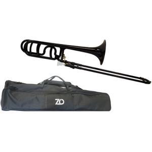 ZO(ゼットオー) トロンボーン 太管 TB-05 ブラック 新品 アウトレット プラスチック テナーバストロンボーン tenor bass trombone 黒色 北海道 沖縄 離島不可の画像